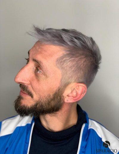 Taglio uomo corto colore grigio gray sparacio parrucchieri